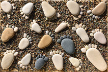 Pebble Stones Arranged Like Fo...