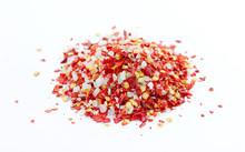 Chili Salt On White Background