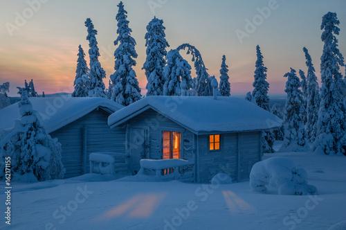 Fotografie, Obraz  Hütte in Lappland