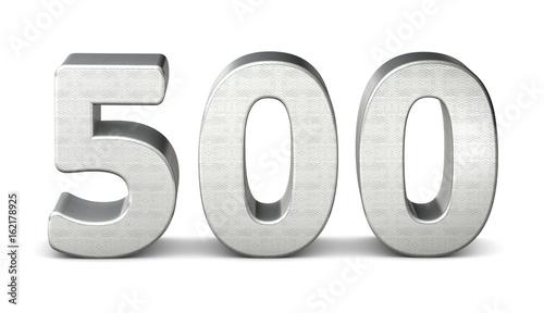 Fotografia  500 zahl silber 3d number silver struktur