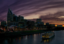 Nashville Skyline With General Jackson Showboat