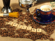 Coffee Beans, One Ornate Cup, ...