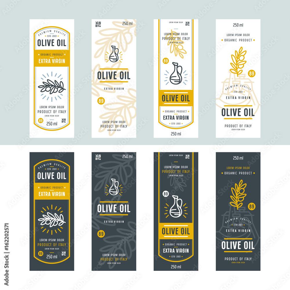 Fototapeta Set of templates label for olive oil