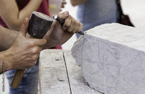Cuadros en Lienzo Carving stone