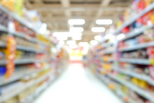 Blur Image Of Aisle In Superma...