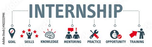 internship benefits vector illustration Canvas Print