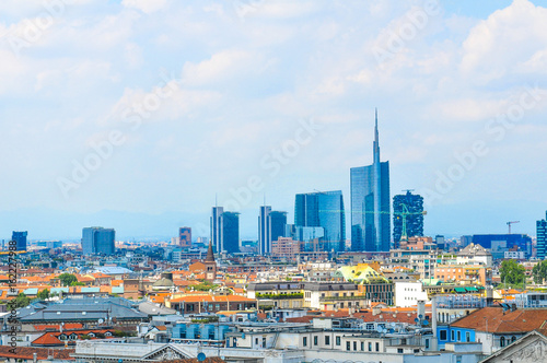 Cadres-photo bureau Milan Aerial view of Milan, Italy