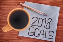 2018 Goals Handwriting On A Napkin