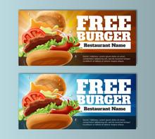 Free Burger Voucher Template