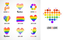Gay, LGBT Collection Of Symbol...