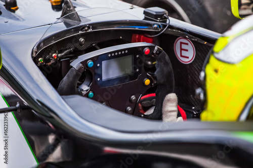 Foto op Plexiglas F1 Pilot inside cabine of his vehicle