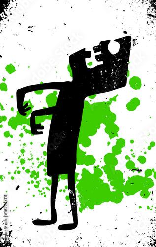 sylwetka-zombie-na-tle-zielonego-rozprysku