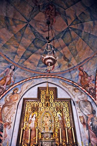 Interior de la Capilla del Monasterio de la Rábida, provincia de Huelva, España Canvas Print