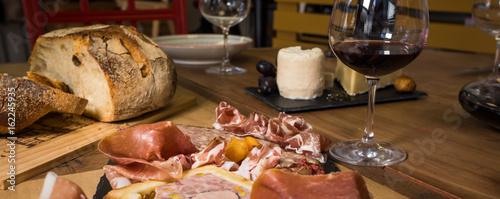 Fotografie, Obraz  assiette de charcuterie