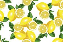 Nice Lemon Background. Vector ...