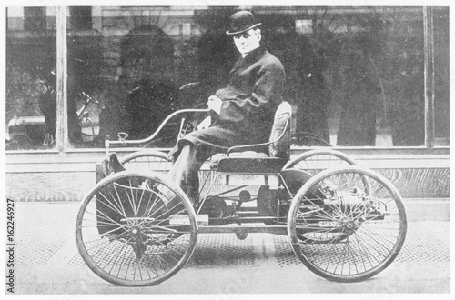 Ford's First Model - 1892. Date: 1892 Canvas Print