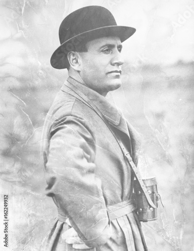 Fotografie, Obraz  Benito Mussolini. Date: 1883 - 1945