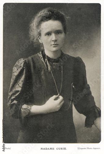 Canvas Print Marie Curie - Photograph. Date: 1867-1934