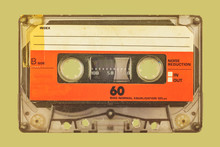 Retro Styled Image Of A Compact Cassette