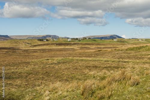 Tuinposter Purper Landscape Elishader Isle of Skye