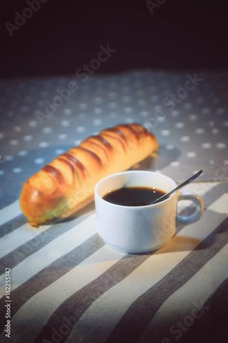 Poster Coffee bar pain et tasse à café