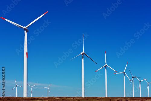 Aluminium Prints Mills Row of wind turbines