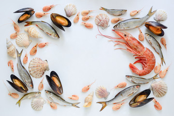 Fototapeta Sea food composition
