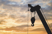 Silhouette Construction Crane