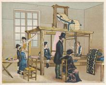 Jaquard Loom - Circa 1885. Date: Circa 1885