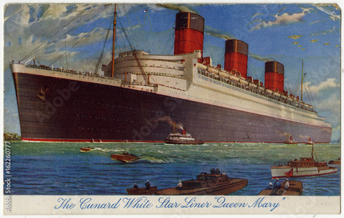 Photo  The Queen Mary. Date: 1936
