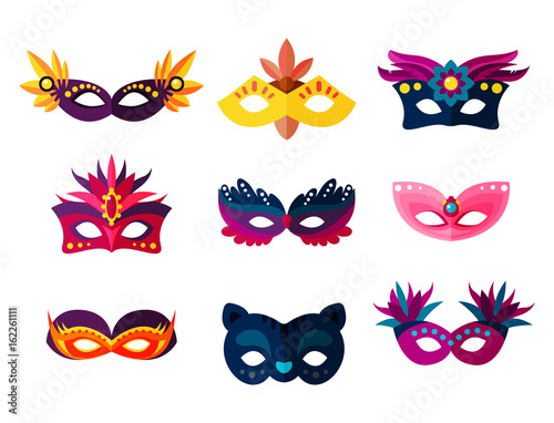 Photo Authentic handmade venetian painted carnival face masks party decoration masquer