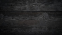 Black Background Of Wooden Boards