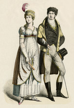 German Couple 1800. Date: 1800
