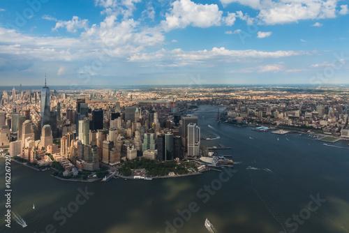 Fototapeta Powietrzna fotografia Manhattan i Brooklyn. Nowy Jork.