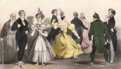 Fotografie, Obraz  Ball at Almack's 1815. Date: 1815