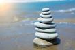 Spa stones on beach