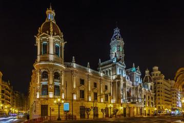 Fototapeta na wymiar Valencia Town Hall, Spain