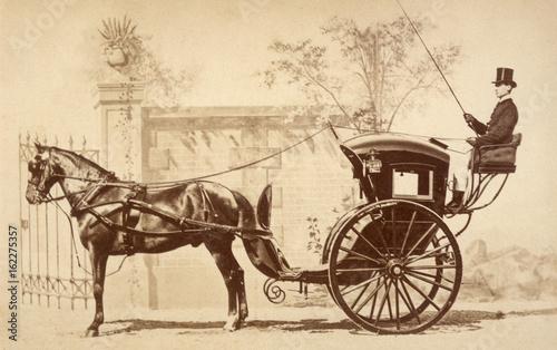 Fotografía Hansom Cab. Date: circa 1860