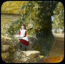 Girl In Country Lane - 19th Ce...