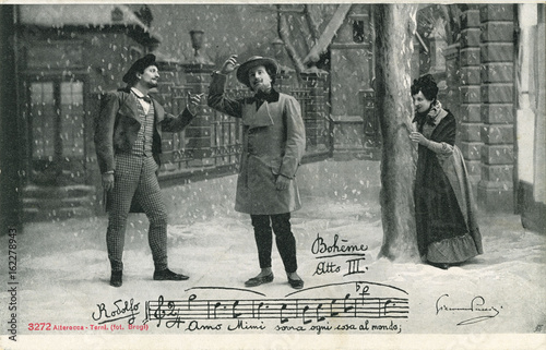 Photo La Boheme - Puccini - III. Date: late 19th century