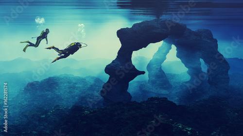 Fotografiet Teenagers  swimming
