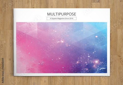 Grid Style Landscape Brochure Layout 1 Buy This Stock Template And