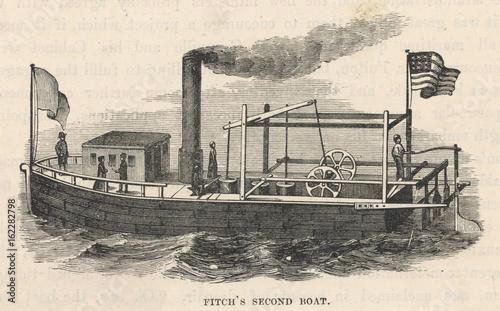 Valokuvatapetti Fitch Steamboat 2. Date: 1788