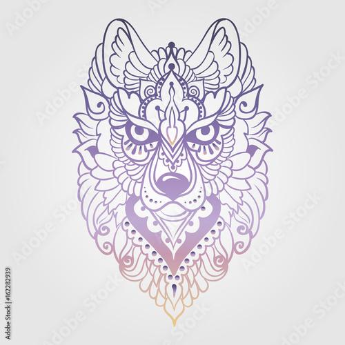 plemienny-etniczny-wilk-szczegolowy-kolorowy-ornamentacyjny-wzor-reka-rysujaca