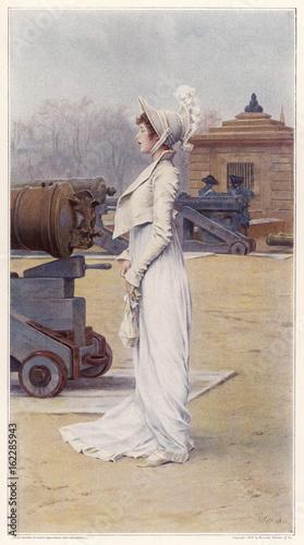 Costume - Women 1813. Date: 1813 Wallpaper Mural