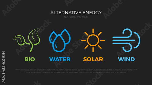 Alternative energy sources  Templates for renewable energy or