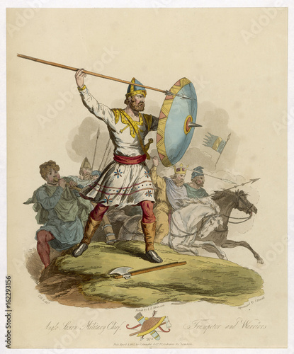 Anglo Saxon Chieftain. Date: 975 Canvas Print
