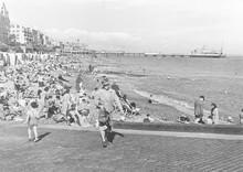 Eastbourne Beach 1947. Date: 1947