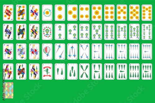 Photographie  spanish playing cards