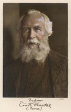 Ernst Haeckel Age 75. Date: 18...